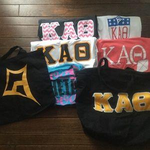 Kappa Alpha Theta Shirts and bags bundle